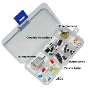Electronic Components Parts Breadboard Led Cable Resistor Thermisor Durable