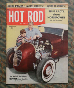 Hot Rod Magazine 1953 Barris Hirohata 1951 Mercury Hemi Ford A Roadster 1932 34