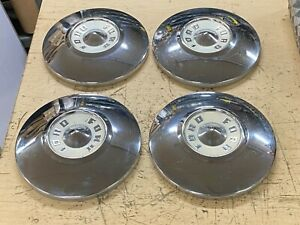 1955 1956 Ford Fairlane Dog Dish Chrome Hubcaps