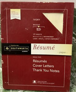 Ivory 75 resume Paper ideal For Cover Letters new