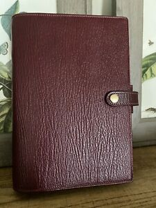 Filofax Personal Chester Red Leather Planner Organizer