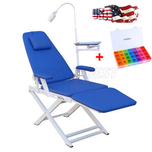 Ups Dental Folding Portable Chair Simple Type Dentist Rechargeable Led Light