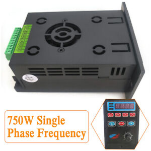 1 X Single Phase Variable Frequency Drive Converter Inverter Ac220v 750w