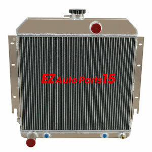 4 Row Cooling Radiator For 1964 Dodge Charger dart Plymouth Barracuda valiant