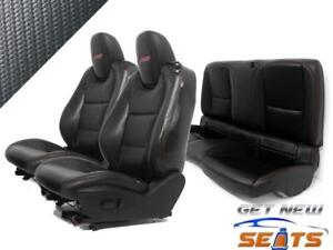 Chevy Camaro Coupe Black Leather Powered Front Rear Seats 2011 2016