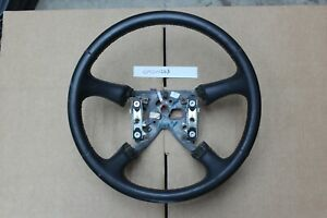 Gm Oem 1999 02 Silverado Sierra 00 02 Tahoe Black Ebony Leather Steering Wheel