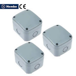 3 Pack Ip66 Waterproof Electrical Junction Box Case 86 74 62 Mm Weatherproof New