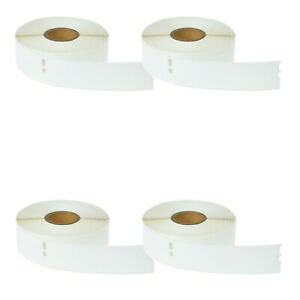 4 Rolls Of 350 White Address Labels For Dymo Labelwriters 30252 1 1 8 X 3 1 2