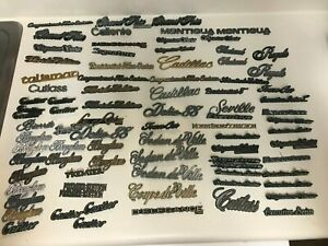 Lot 88 Vintage Car Emblems Town Car Cadillac Cartier Brougham Royale Fleetwood