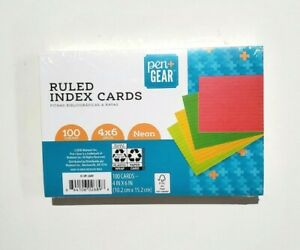 Pen Gear Ruled Index Cards Pastel Colors 100 Count 4 X 6 brand New