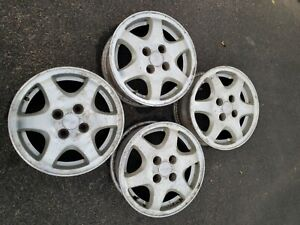 14 Acura Integra Gsr Oem Vintage Wheels 4x100 Rims With Oem Center Caps Rare
