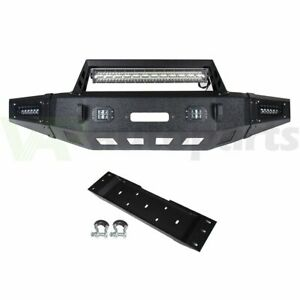 Heavy Duty Steel Front Winch Bumper W D rings Led Lights For Ford F150 15 17
