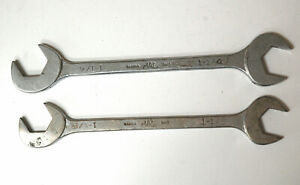 Two Mac Four Way Angle Head Open End Wrenches 1 1 8 1 1 4 Old Style