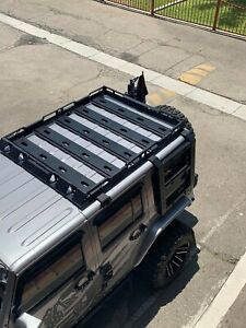 Roof Rack Luggage Basket Fit Jeep Wrangler Jl 18 21 4 Door With Double Ladder