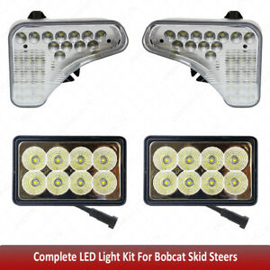 1 Pair Upper Cab Light And 2 Pcs Rear Work Lights For Bobcat Skid Steers S590