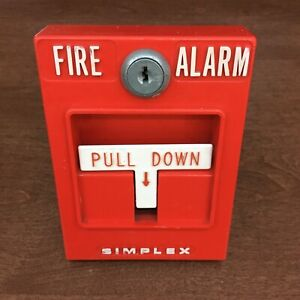 Simplex 4251 20 Vintage Fire Alarm Pull Station Collectible