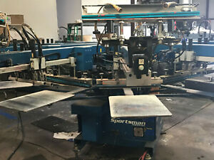 M r Sportsman 8 Color Automatic Screen printing Press 2007