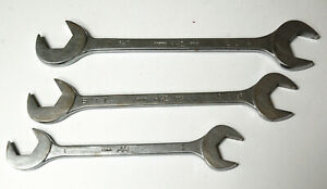 Three Mac Four Way Angle Head Open End Wrenches 1 1 1 8 1 1 4 Old Style