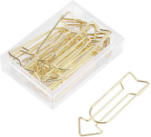 12pcs Gold Paper Clips Large Paperclips Metal Arrow Clips School Office Supplies