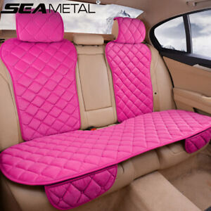 Pink Rear Back Row Car Seat Cover Protector Mat Auto Chair Cushion Accessories