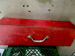 Snap On Tool Box Long Steel Mechanic Old Vintage Big Antique Red W Handle