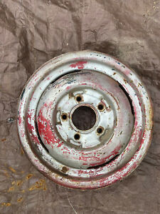 16x4 Ford Truck Steel Wheel 5 On 5 1 2 40s Hot Rod Rat Patina Smoothie Passenger