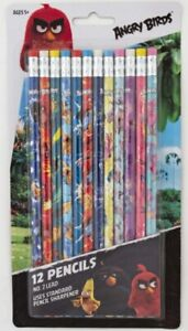 12 Count Pack Of Angry Birds 2 Lead Pencils 2016 Officially Licensed By Rovio