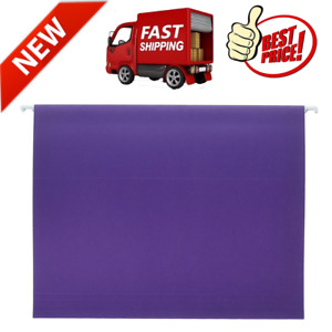 25 Pack Letter Size Hanging File Folders With 1 5 Cut Tab Purple Heavy Duty New