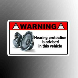Warning Hearing Funny Vinyl Decal Sticker Sub Woofer Jdm Competition Amp