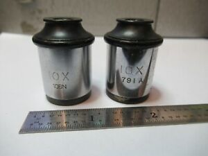 Spencer Ao 10x Antique Eyepiece Pair Lens Microscope Part As Pictured 3 ft x57
