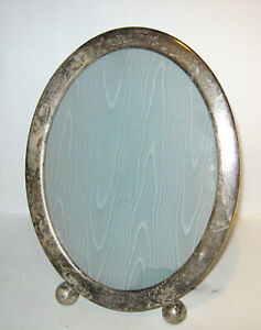 Antique Sterling Silver Round Picture Frame