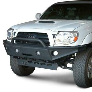 Dv8 Offroad Full Width Black Front Winch Bumper W Hoop For Toyota Tacoma 05 15