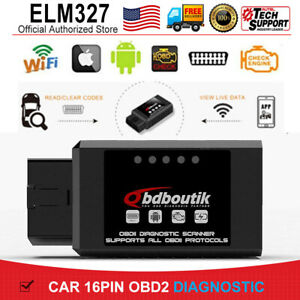 Elm327 V1 5 Bluetooth Obdii Engine Diagnostic Auto Car Scanner Tool For Android