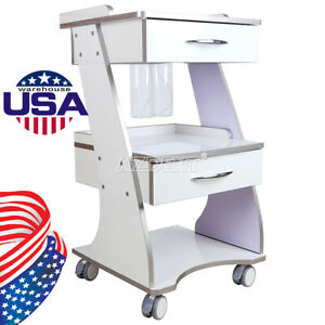 Mobile Dental Trolley Metal Built in Socket Tool Cart Instrument Cart Medical