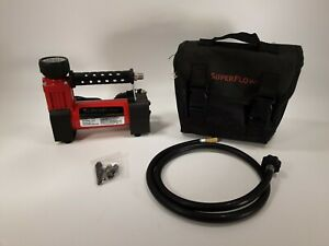 Superflow Hv 35 12v Air Compressor With A Case tips Tested And Working 2