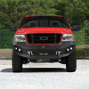 Heavy Duty Steel Front Bumper W Winch Plate Light D ring For Ford F150 04 08