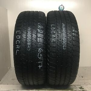 No Shipping Only Local Pick Up 2 Tires 245 65 17 Goodyear Fortera Hl
