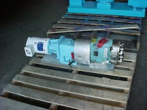 1 5 Inch Waukesha Stainless Steel Positive Displacement Pump Model 030