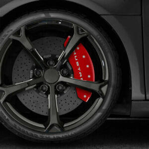 Front And Rear Red Bar Pony Caliper Covers For 2015 20 Ford Mustang By Mgp