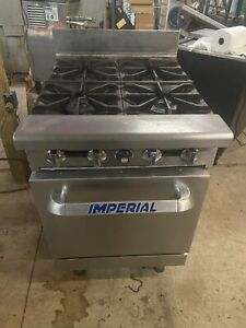 Imperial Ir 4 24 Gas Range 4 Open Burner Oven Base Commercial Stove