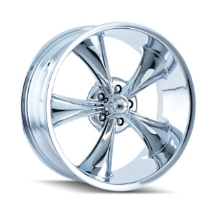 20 Inch 5x114 3 Wheel Rim Chrome 0mm Ridler 695