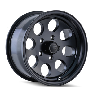 15 Inch 5x114 3 Wheel Rim Matte Black 27mm Ion 171