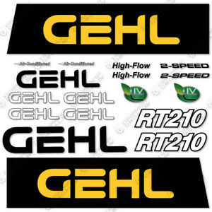 Gehl Rt210 Decal Kit Compact Excavator Decals 7 Year 3m Vinyl rt 210