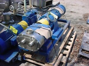 3 Inch Waukesha Stainless Steel Displacement Pump Model 130