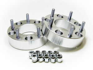 1 Wheel Spacers 25mm 5 Lug 5x5 5 Jeep Ford Dodge Silver 2 Piece Kit