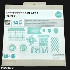 Nip We R Memory Keepers Letterpress Plates Party 14 Pieces