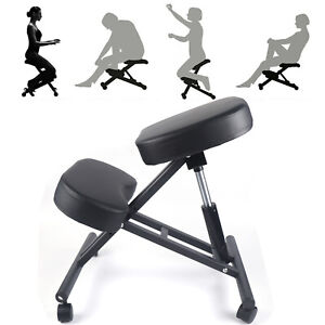 Ergonomic Rolling Kneeling Posture Chair Stool Adjustable For Home Office Seat