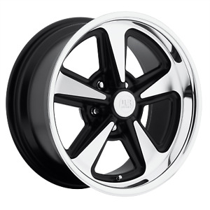 18 Inch 5x114 3 4 Wheels Rims 18x9 8mm Black Machined Us Mag 1pc U109 Bandit