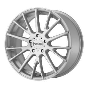 17 Inch 5x114 3 4 Wheels Rims 17x7 40mm Silver Machined American Racing Ar904