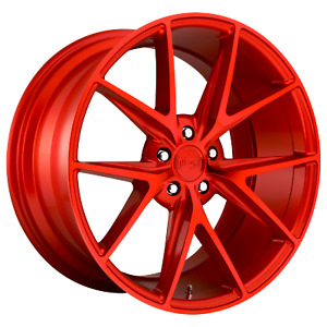 18 Inch 5x114 3 4 Wheels Rims 18x8 40mm Candy Red Niche 1pc M186 Misano